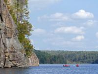 There were quite a few kayakers day-tripping from the Rock Lake campgrounds.